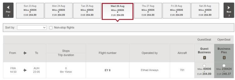 Etihad Praemienflug Frankfurt Abu Dhabi Mit Rabatt