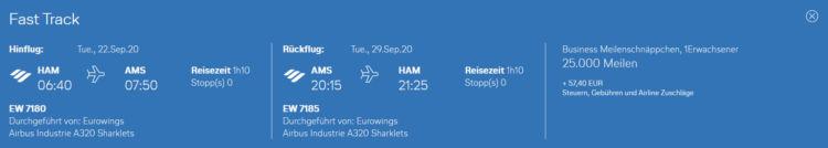 Eurowings Meilenschnaeppchen August 2020 Amsterdam