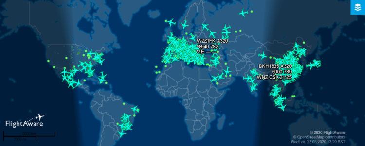 Flightaware Airbus A320 2020 08 22