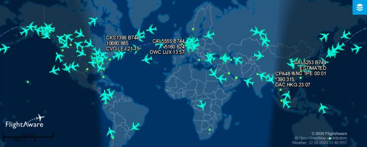 Flightaware Boeing 747 400 2020 08 22