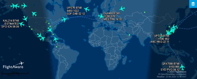 Flightaware Boeing 747 8 2020 08 22