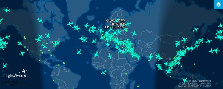 Flightaware Boeing 777 300er 2020 08 22