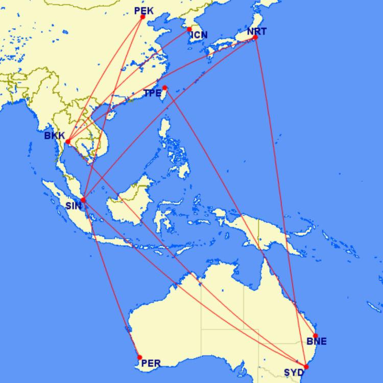 Great Circle Mapper Aeroplan Business Class Strecken 45000 Punkte