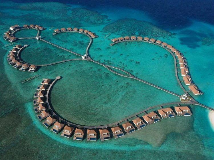 Radisson Blu Maldives Luftansicht Copyright