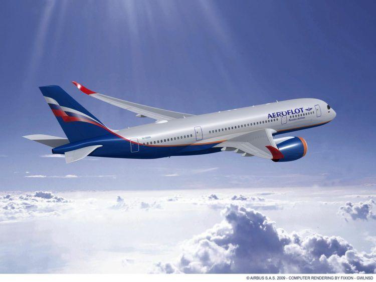 Airbus A350 800 Aeroflot Rendering Copyright