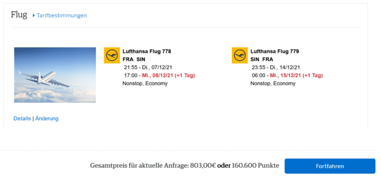 American Express Platinum Reiseguthaben Flugbuchung 1