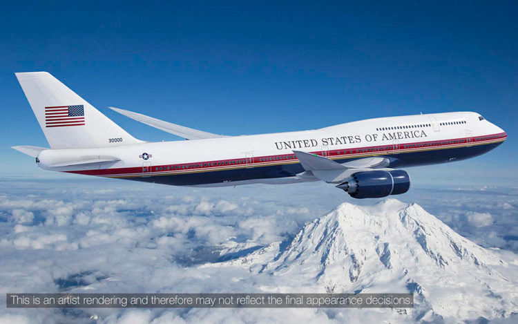 Boeing 747 8 Air Force One Rendering Copyright