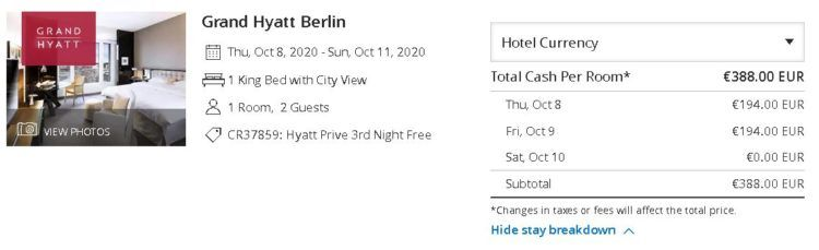 Grand Hyatt Berlin Hyatt Prive Rate