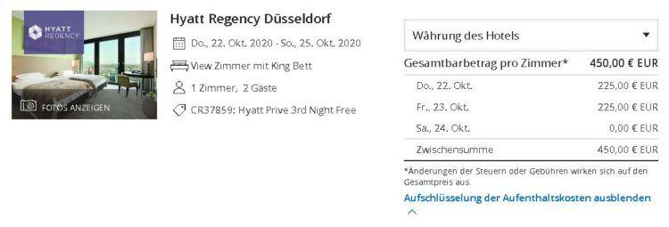 Hyatt Regency Duesseldorf Hyatt Prive Rate Copyright