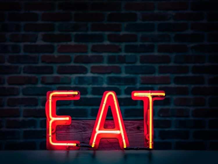 Restaurant Eat Zeichen