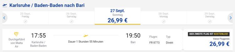 """Ryanair """"Zwei Zum Preis Von Einem"""" Sale mit Strecke"""