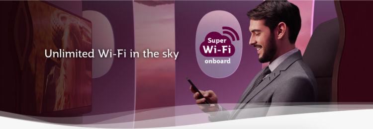 Super Wi Fi Qatar Airways