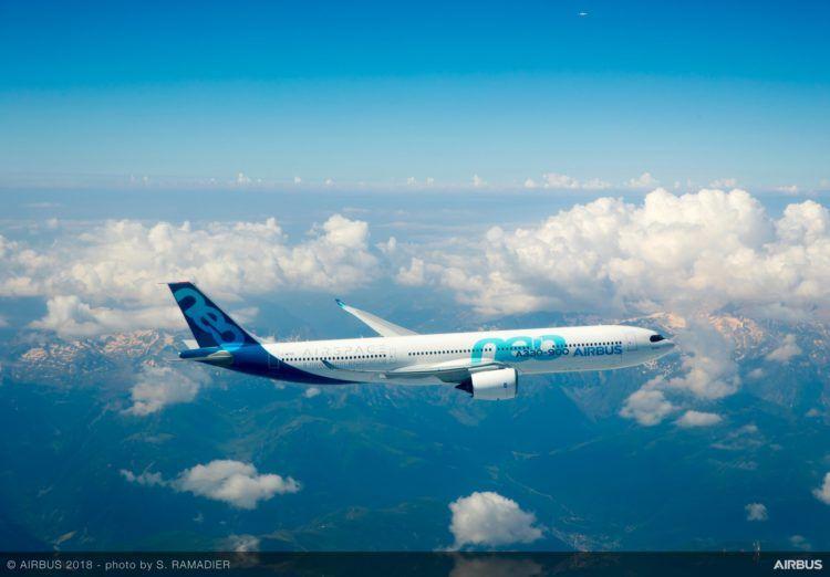 Airbus A330 900 Testflug Copyright