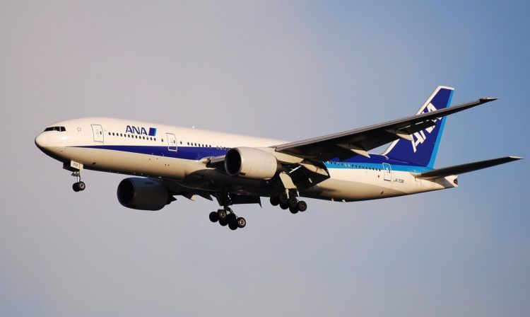 Ana Boeing 777 200 Landung Pixabay