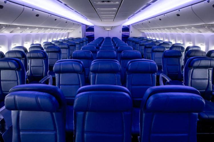 Delta Airlines Boeing 777 Economy Copyright