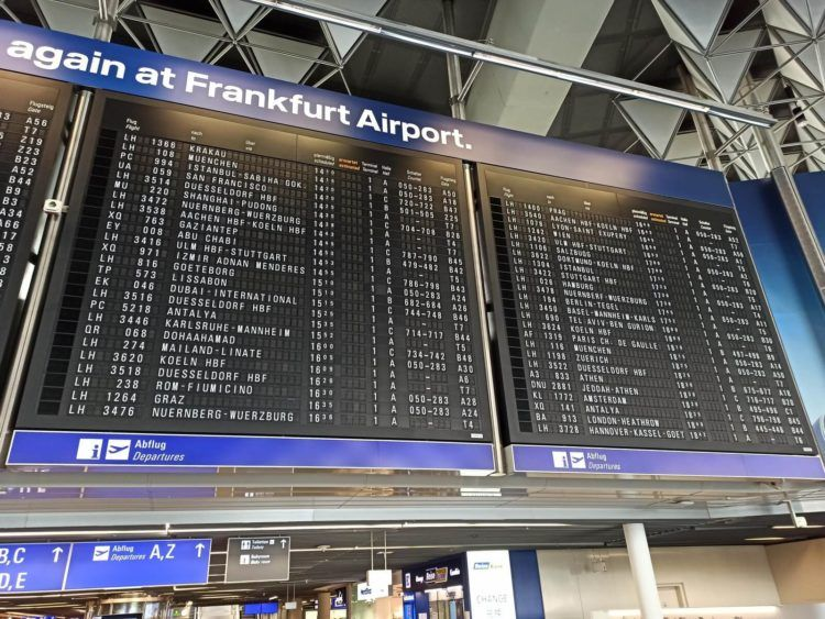 Flughafen Frankfurt Anzeigetafel