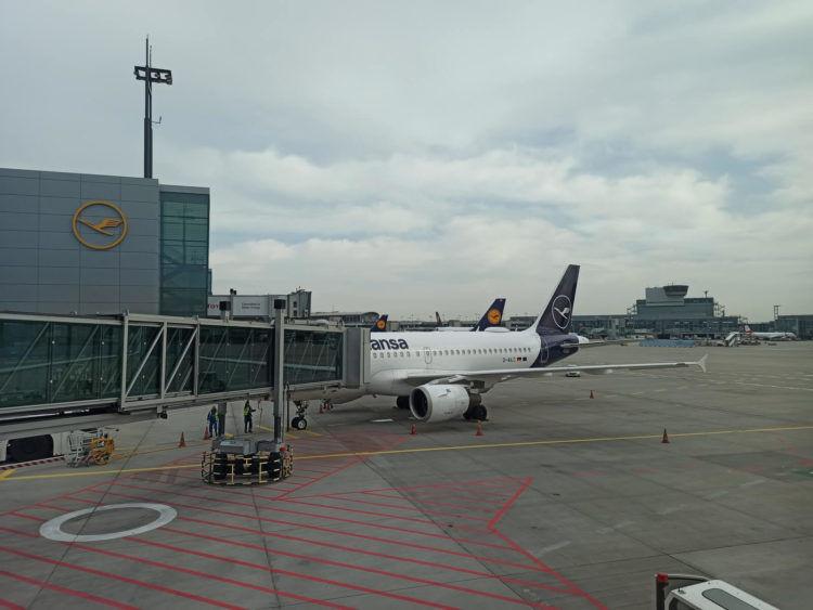 Lufthans Flugzeuge Frankfurt Bereich A