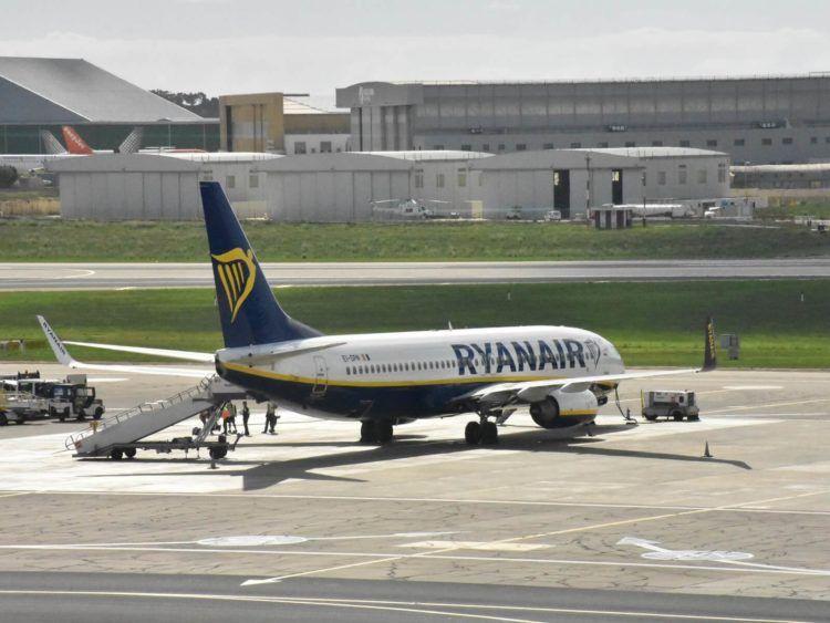 Ryanair Flugzeug Malta