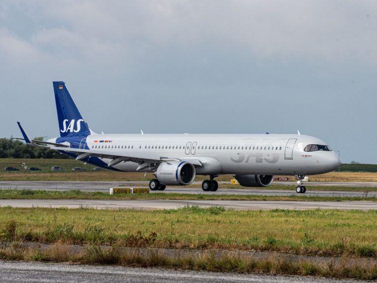 Sas Flugzeug A321lr Copyright