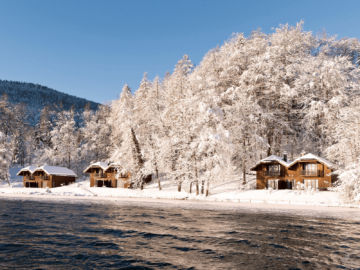 Schloss Fuschl Lake Cottage Winter Copyright