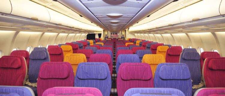 Thai Airways A330 300 Economy Cabin Copyright
