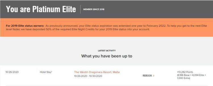 Westin Dragonara Resort Malta Punkte