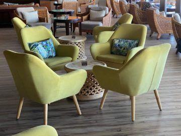 Air Seychelles Salon Vallee De Mai Premium Lounge Stuehle