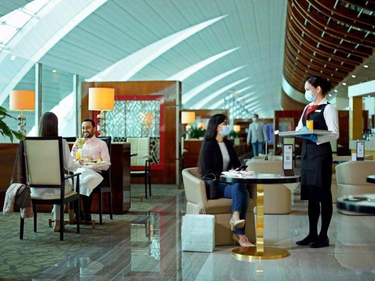 Die Emirates Lounges wurde wegen Corona umgestaltet