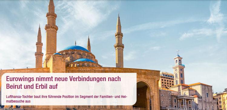 Eurowings Fliegt Nach Erbil Und Beirut