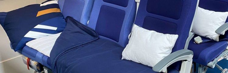 Lufthansa Economy Schlafcouch Sleepers Row
