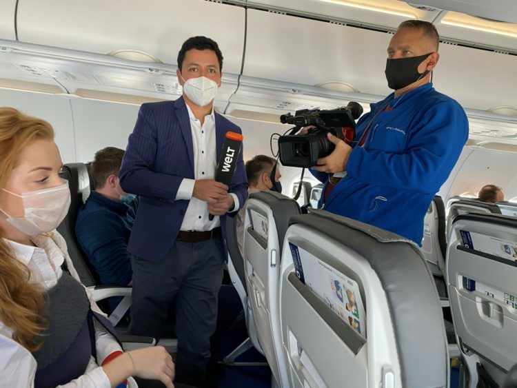Lufthansa Erstflug Berlin Interview Welt