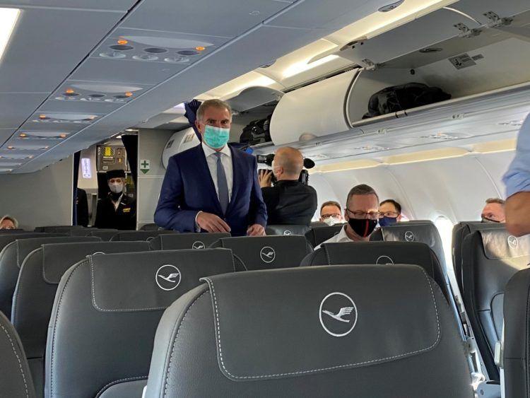 Lufthansa Erstflug Berlin Spohr