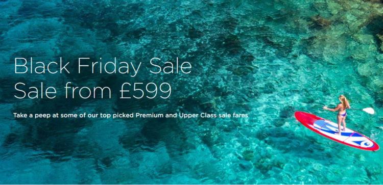Virgin Atlantic Black Friday Angebote Business Class