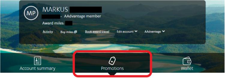 """Unter dem Reiter """"Promotions"""" gelangt man zur Registrierung"""