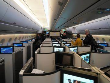 British Airways Business Class A350 1000 Kabine