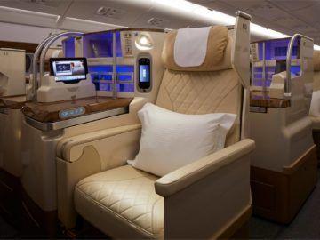 Emirates Neuer A380 Business Class Copyright