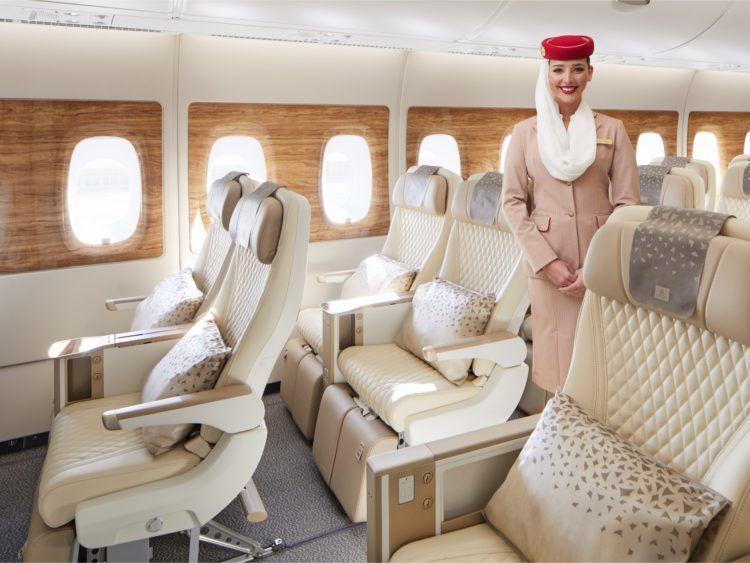 Emirates Premium Economy Class Sitz Copyright