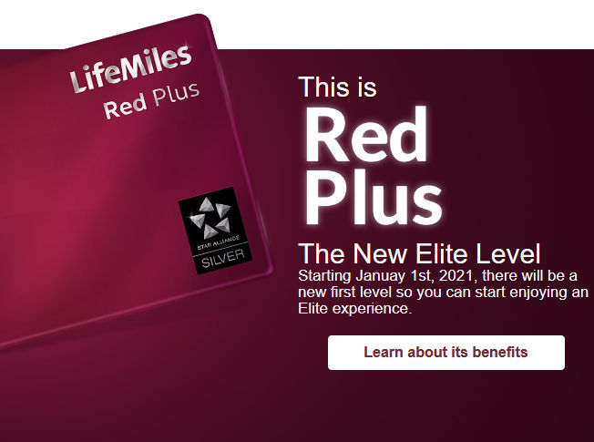 Der LifeMiles Red Plus Status kommt ab 01.01.2021