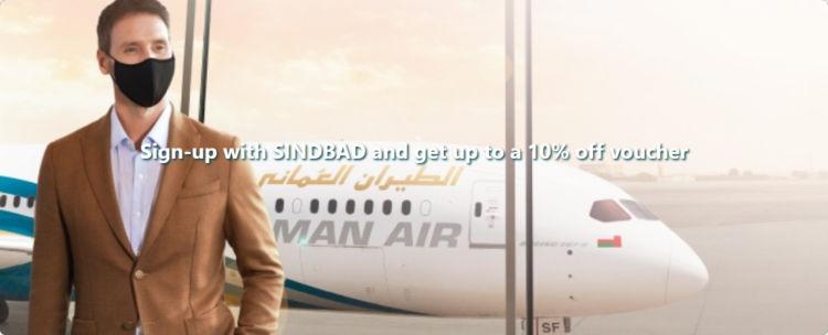 Oman Air Sindbad Anmeldung Rabattcode