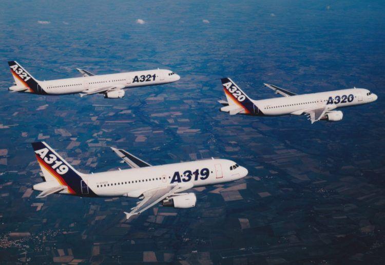 Airbus A320 Familie Werkslackierungen Copyright=airbus