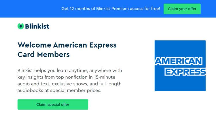 American Express Blinkist