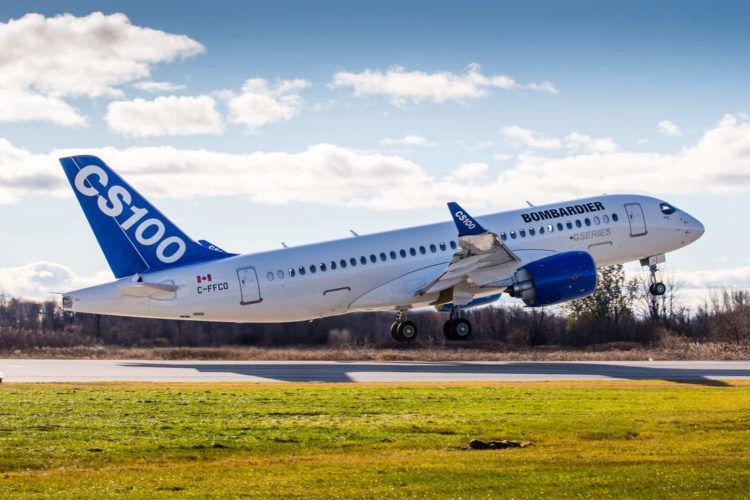 Bombardier Cs100 First Flight Copyright