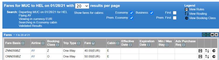 Finnair Oneway Tarife von Muenchen nach Helsinki