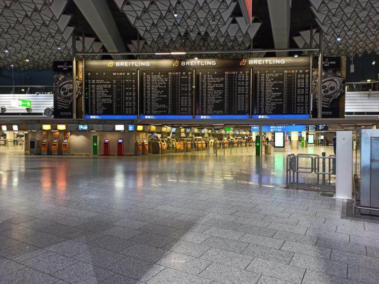 Flughafen Frankfurt Terminal 1 In Zeiten Von Corona