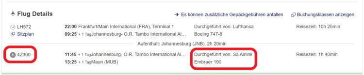 Interline Abkommen Lufthansa Airlink