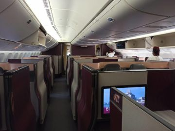Qatar Airways Qsuite B777 300er Corona Boarding