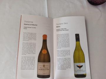 Qatar Airways Qsuite B777 300er Corona Weinkarte Chardonnay