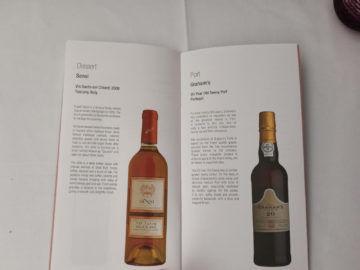 Qatar Airways Qsuite B777 300er Corona Weinkarte Dessertweine