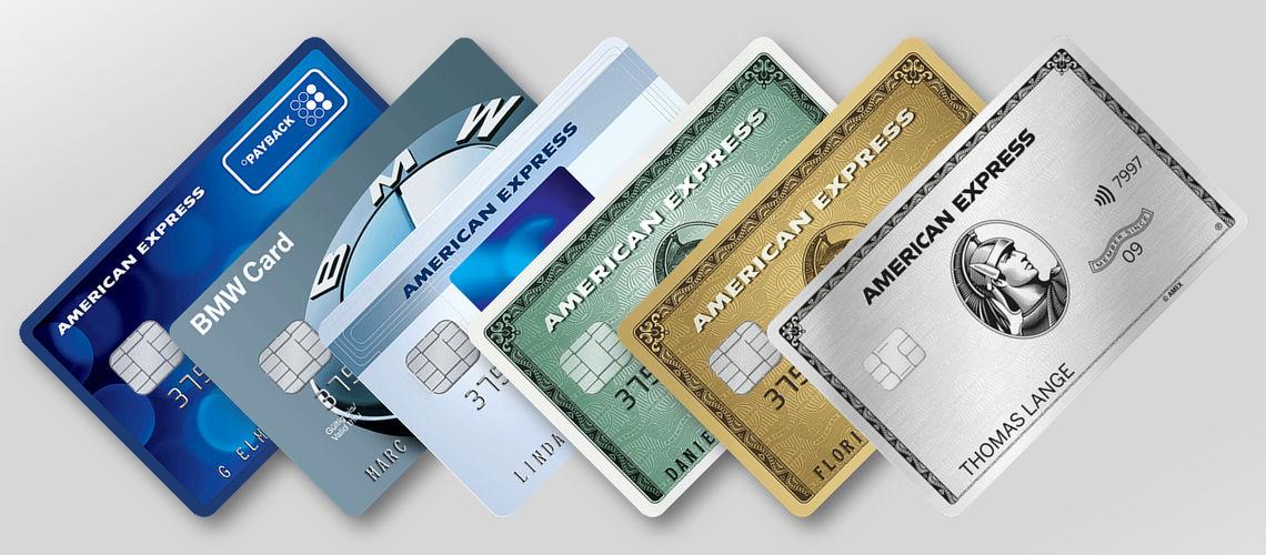 Slider American Express Kreditkarten