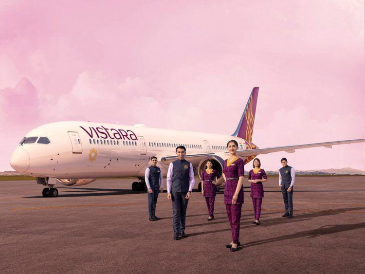 Vistara Flugzeug Und Crew Copyright